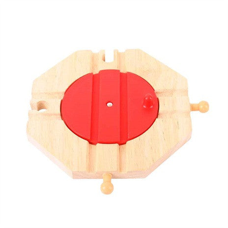 Big Jigs Wooden Train Set Accessories – 4 Way Turntable