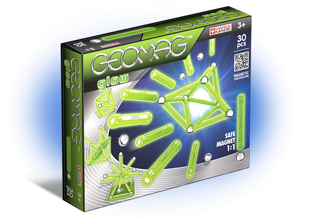 Geomag magnetic construction toy - Glow 30