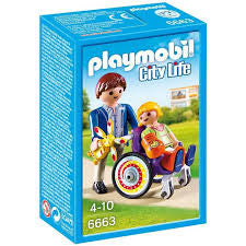 Playmobil 6663 City Life Children's Hospital Child in Wheelchair
