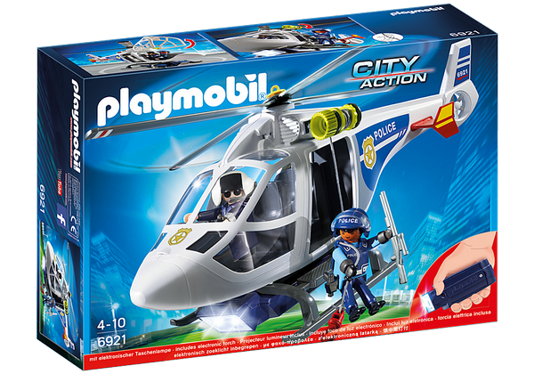 Playmobil Police Helicopter with LED Searchlight - 6921