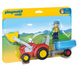 Playmobil 1.2.3. Tractor with Trailer - 6964