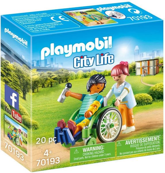 Playmobil City Life Patient in Wheelchair - 70193