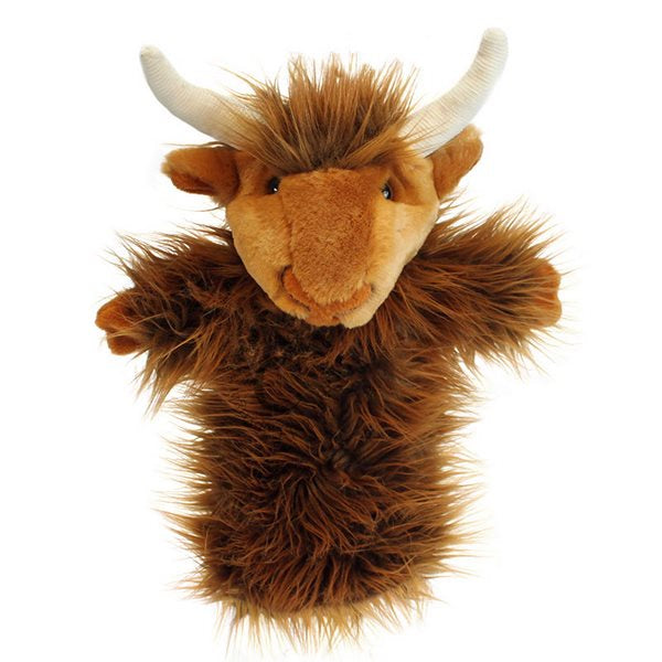 Highland Cow Long Sleeve Glove Puppet