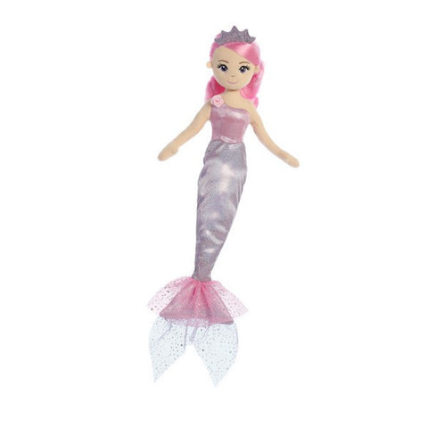 Sea Shimmers Princess Lavender Mermaid Doll 18""