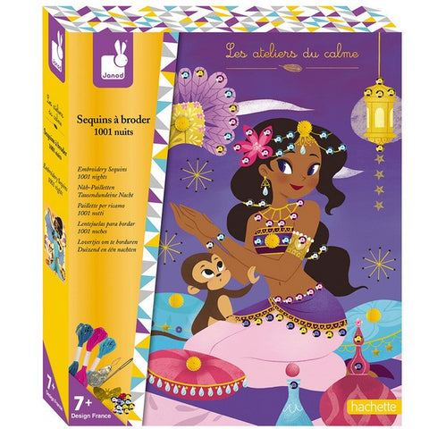Children's Embroidery Sequins Craft Set - 1001 Nights