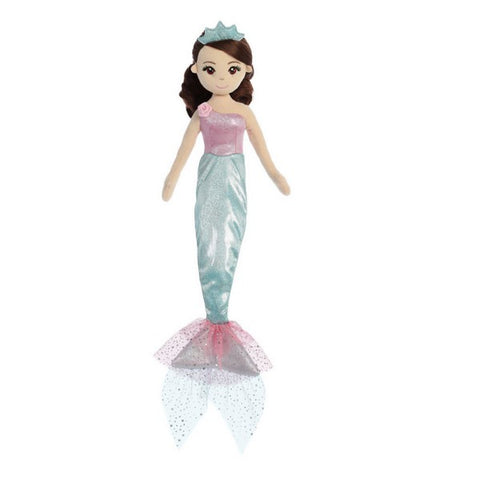 Sea Shimmers Princess Teal Mermaid Doll 18""