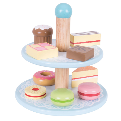 Wooden Play Cake Stand
