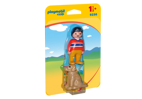 Playmobil 1.2.3. Man with Dog - 9256