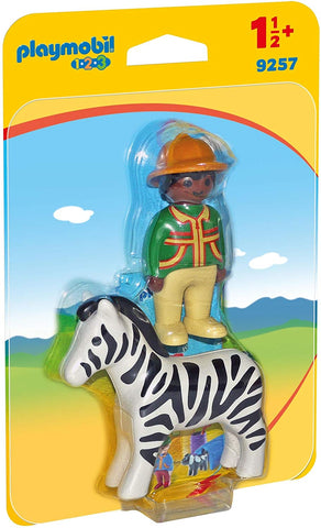 Playmobil 1.2.3. Ranger with Zebra - 9257