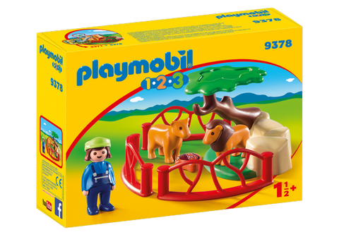 Playmobil 1.2.3. Lion Enclosure - 9378