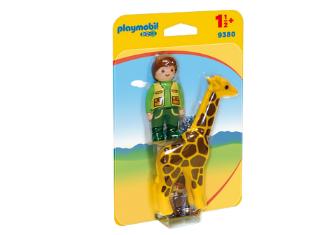 Playmobil 1.2.3. Zookeeper with Giraffe - 9380