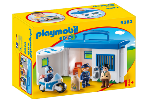 Playmobil 1.2.3.Take Along Police Station - 9382