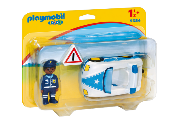 Playmobil 1.2.3. Police Car - 9384