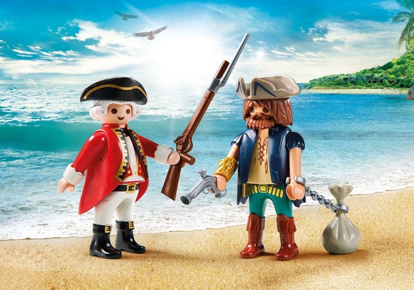 Playmobil Pirate and Soldier Duo Set - 9446