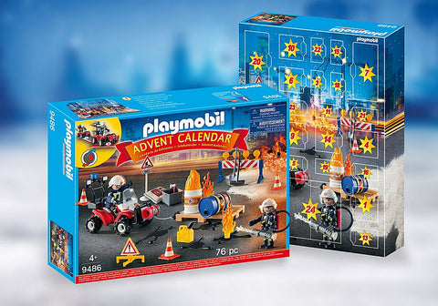 Playmobil Advent Calendar - Construction Site Fire Rescue 94867