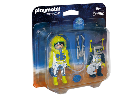 Playmobil Astronaut and Robot - 9492