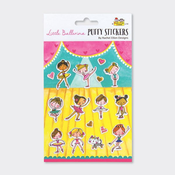 Puffy Stickers - Little Ballerinas