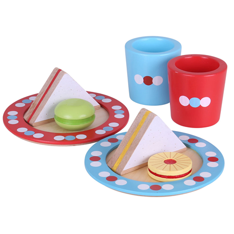 Wooden Tea for Two play set