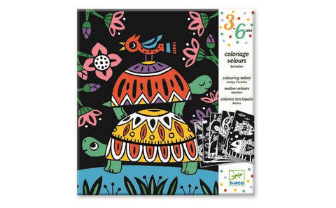 Djeco Colouring Velvet - Creepy Crawlies DJ09624