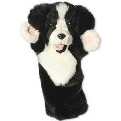 Long-Sleeves Border Collie hand puppet