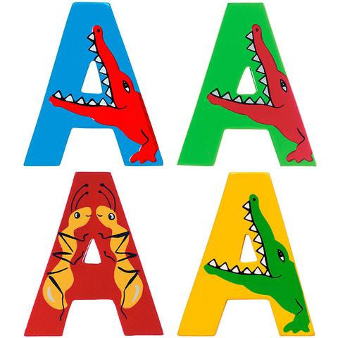 Lanka Kade wooden letters for children's bedroom doors