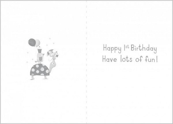 Birthday Card - Age 1 Boy - Elephant