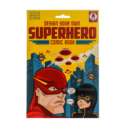 Design Your Own Superhero Comic Book Craft Set