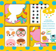 Djeco Create With Stickers - I Love Animals DJ09050