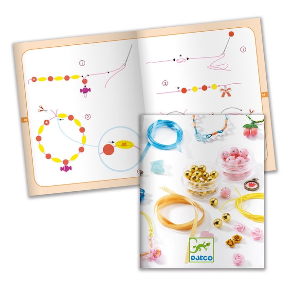 Djeco Jewellery Design and Creating set  - Pearls and Flowers
