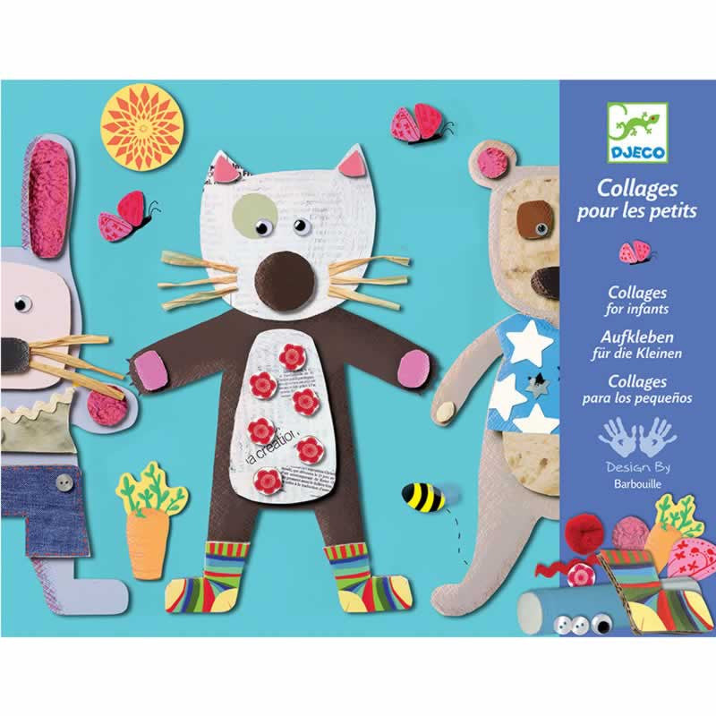 Djeco Art for Kids Collage Set for Little Ones.  DJ08664