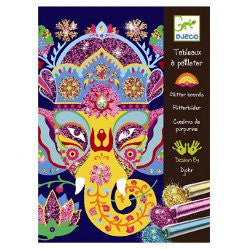 Djeco Animals Glitter Boards Art Set.  DJ09502