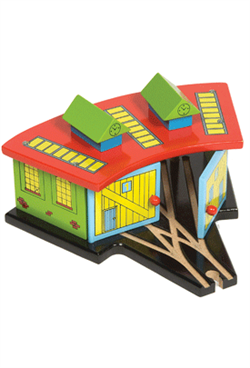 Big Jigs Wooden Train Set Accessories – Triple Engine Shed
