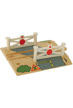 Big Jigs Wooden Train Set Accessories – Level Crossing