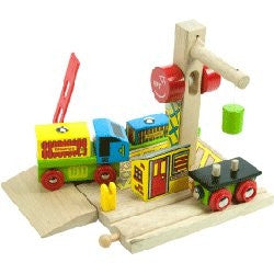 Big Jigs Wooden Train Set Accessories – Container Shipping Yard