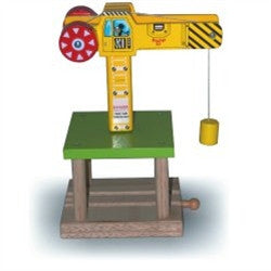 Big Jigs Wooden Train Set Accessories – Working Crane