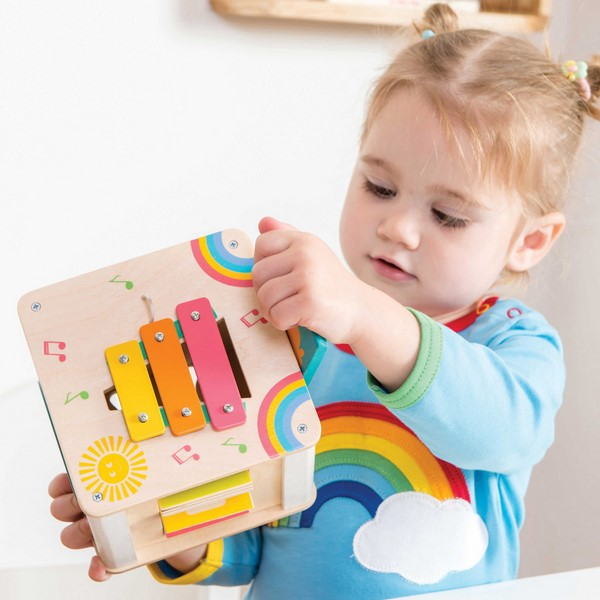Petit Wooden Activity Cube