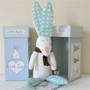 Rufus Rabbit Blue Rattle and Gift Box