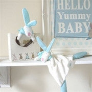Rufus Rabbit Blue Comforter and Gift Bag