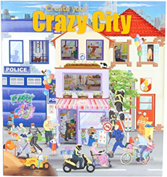 TOPModel Create Your Crazy City Sticker Book