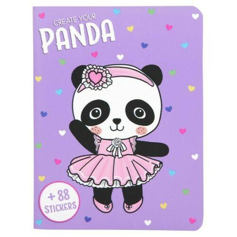 TOPModel Dress Up Your Kitty, Panda, Unicorn or Bunny Sticker Book (4 Variations)