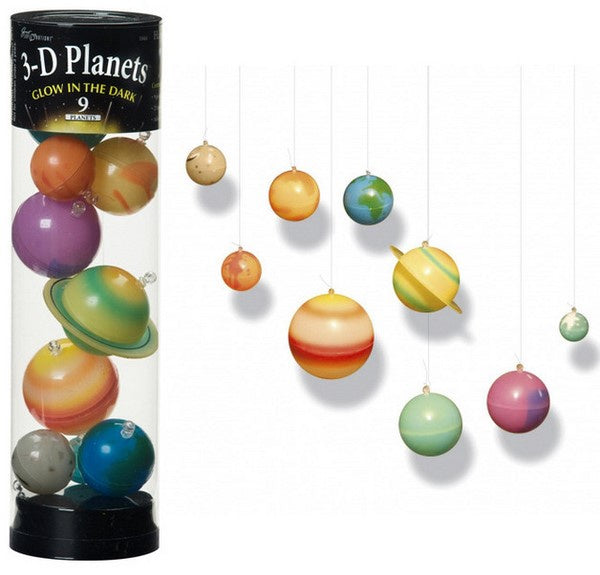 3-D Glow in the Dark Solar System Set