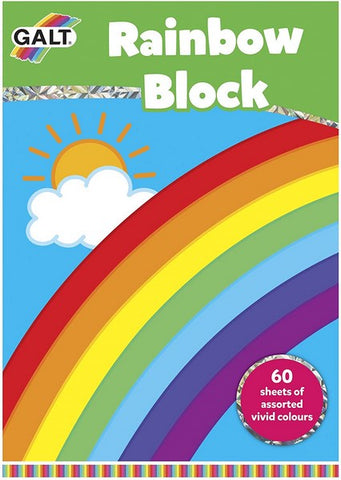 Rainbow Block - Pad of coloured paper