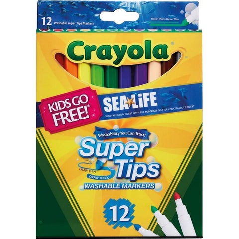Crayola Washable Markers Super Tips felt pens