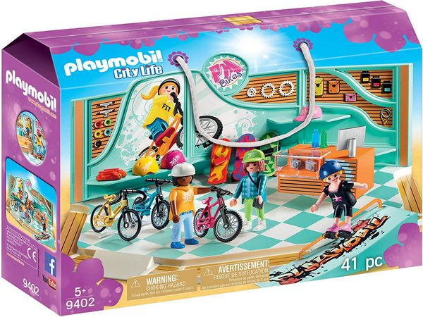 Playmobil City Life Bike and skate shop with ramp - 9402
