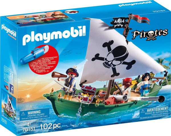 Playmobil Pirate Ship with Underwater Motor - 70151