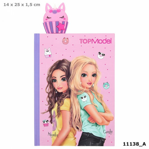 TOPModel Candycake Secrets Notebook with cupcake bookmark