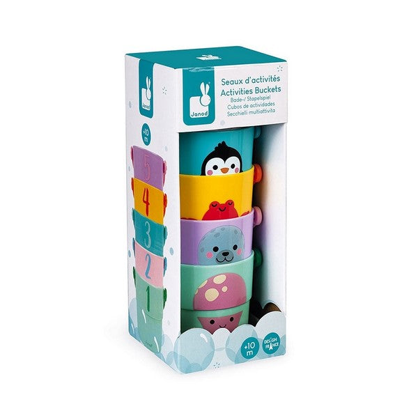Activity Buckets Bath Toy