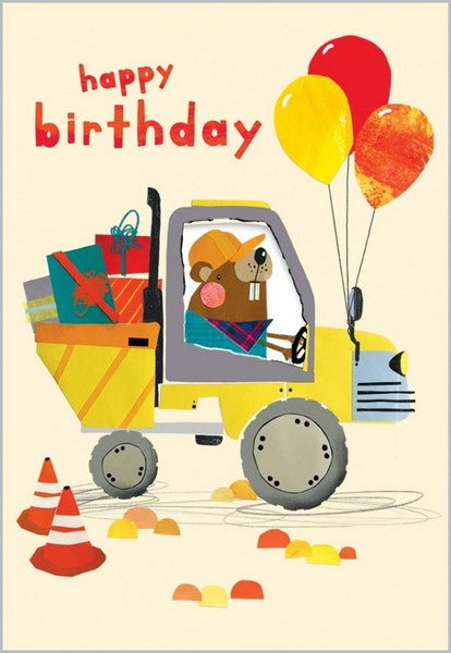 Birthday Card -  Dumper Truck