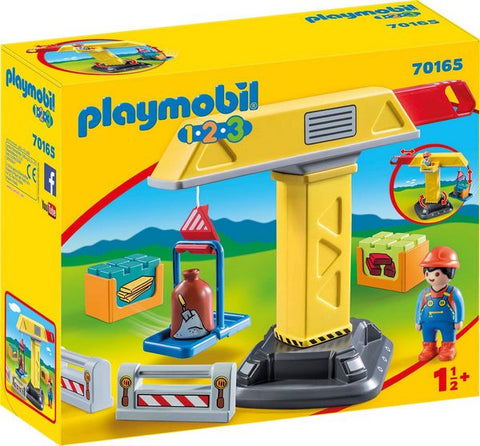 Playmobil 1.2.3 Construction Crane - 70165