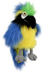 Large Blue and Gold Macaw Puppet by Puppet Company